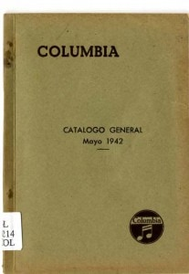 COLUMBIA Records - Catàlogo General 1944