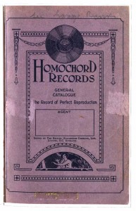 HOMOCHORD Records Catalogue 1926