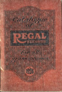 REGAL Records (UK) - Catalogue 1926