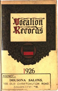 Vocalion Records Catalogue 1925 (UK)